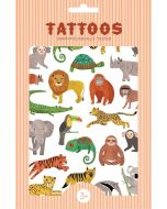 Petit Monkey tattoo's jungle dieren