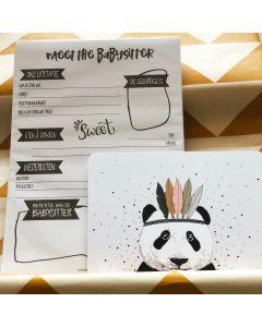 Brievenbus (kraam) cadeaupakket babysitter planner