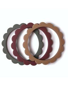 Bijtringen Flower Bracelet Dried thyme-Natural-Berry (3 stuks)