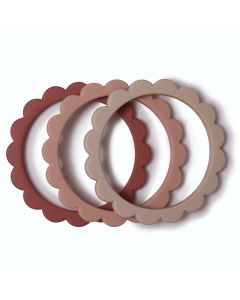 Bijtringen Flower Bracelet Rose-Blush-Shifting Sand (3 stuks)