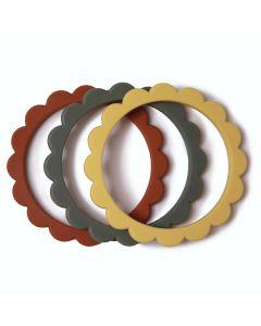 Bijtringen Flower Bracelet Clay -Dried Thyme - Sunshine (3 stuks)
