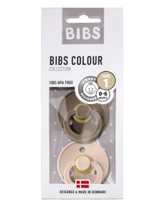 Bibs Fopspeen Dark Oak/Blush