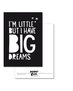 Kaart A6  Big dreams