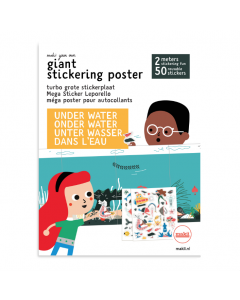 Stickerplaat Water
